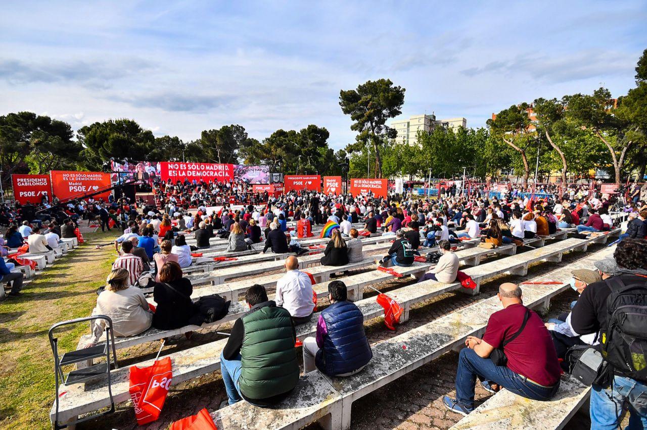 Acto de cierre de campaña del PSOE