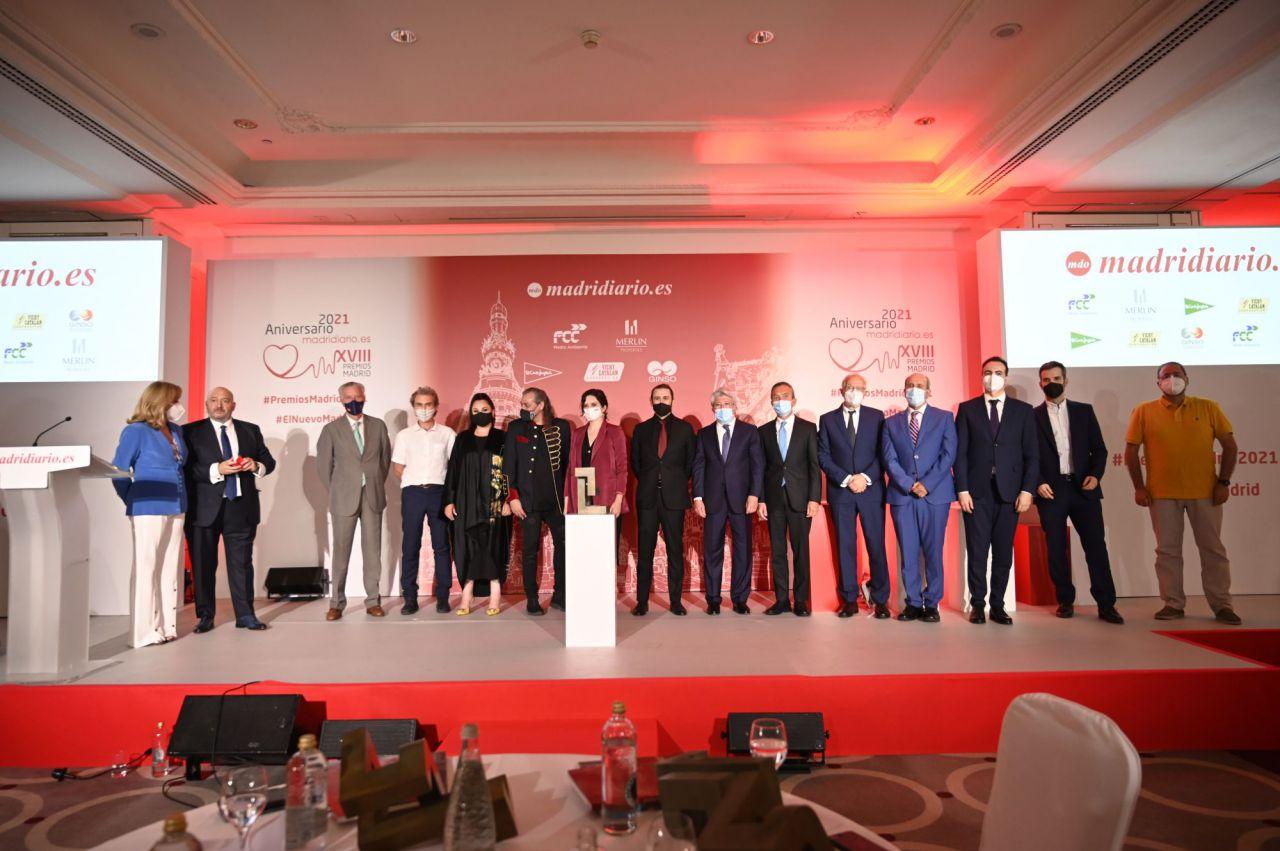Todos los galardonados de los Premios Madrid al final de la gala
