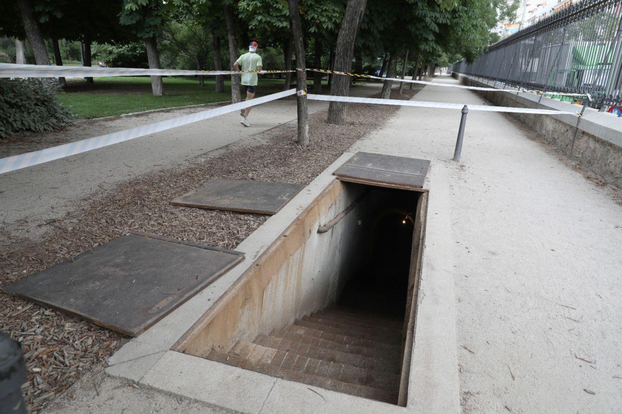 Refugio antiaéreo del parque del Retiro.