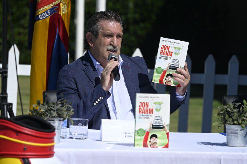 El periodista Iñaki Cano en la rueda de prensa de presentación del libro.