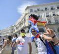 Una marcha recorre Madrid en defensa del pueblo cubano