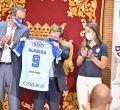 Homenaje al Club de Rugby Complutense Cisneros en Cibeles