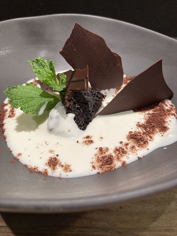 Textura de tres chocolates - La Terraza del Santo Doming