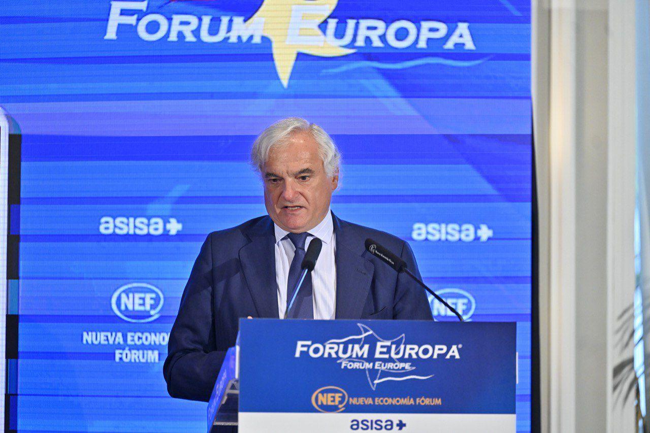 Ángel Garrido, presidente de la Confederación Empresarial de Madrid-CEOE (CEIM), comparece en el desayuno informativo de la organización.