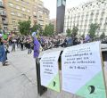 Concentración a favor del aborto en la plaza Reina Sofía
