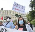 Concentración de pensionistas frente al Congreso en el Día de las Personas Mayores