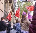 Protesta de los trabajadores de la limpieza hospitalaria