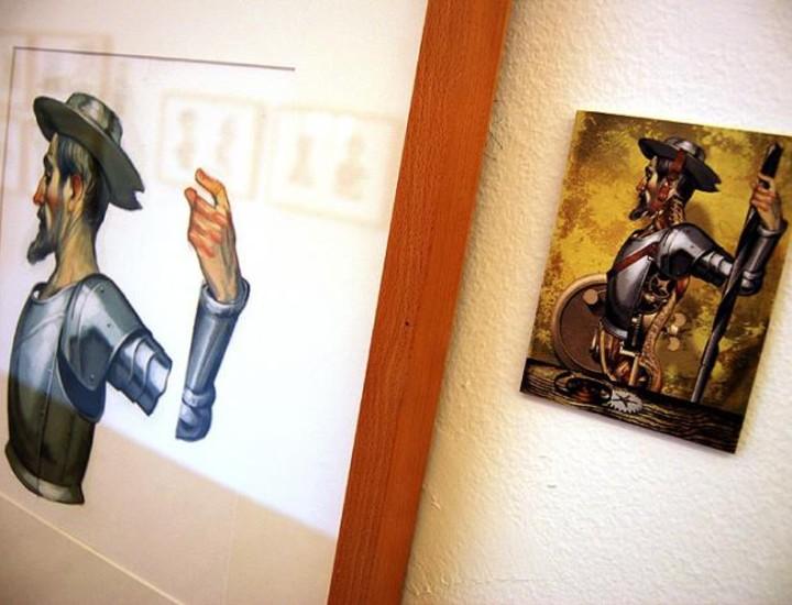 El Círculo de Bellas Artes inaugura la exposición 'Literatura Ilustrada', de Fernando Vicente.