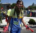 Jardineros municipales protestan en Cibeles