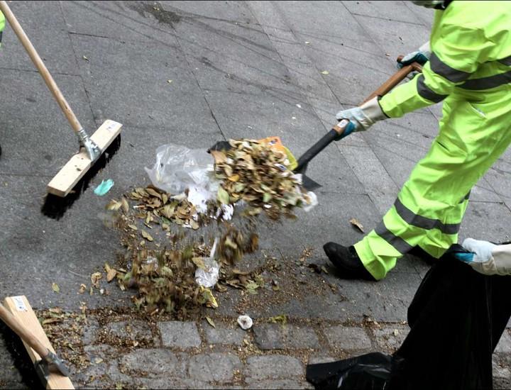 Huelga de limpieza, Tragsa, servicios mínimos, calles, Madrid
