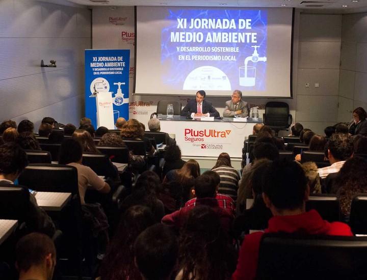 El público eran en su mayoría estudiantes de Bachillerato y de primero de Periodismo