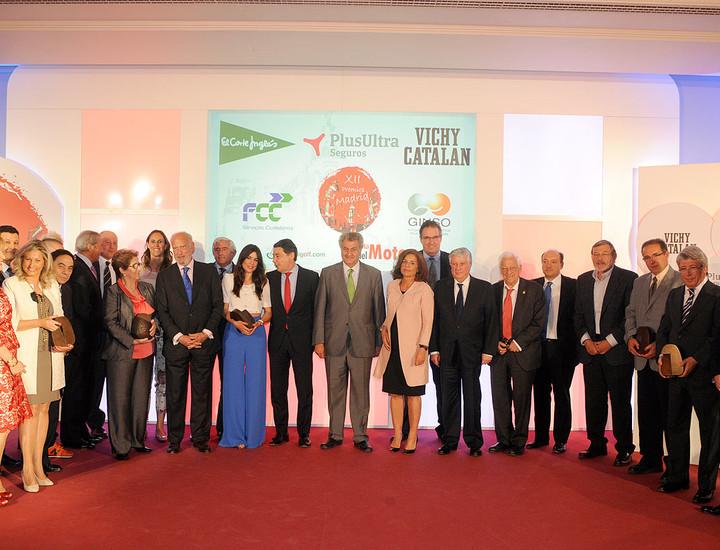 Foto de familia de los XII Premios Madrid