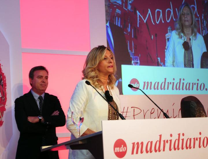 La presidenta del Colegio de mediadores de Madrid, Elena Jiménez de Andrade, durante su discurso.