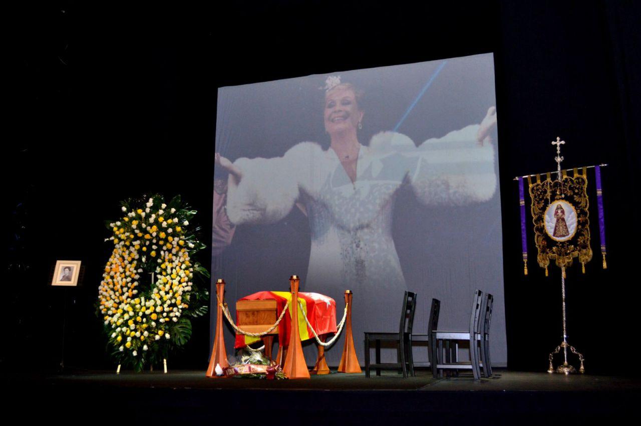 Capilla ardiente de Lina Morgan en el Teatro La Latina