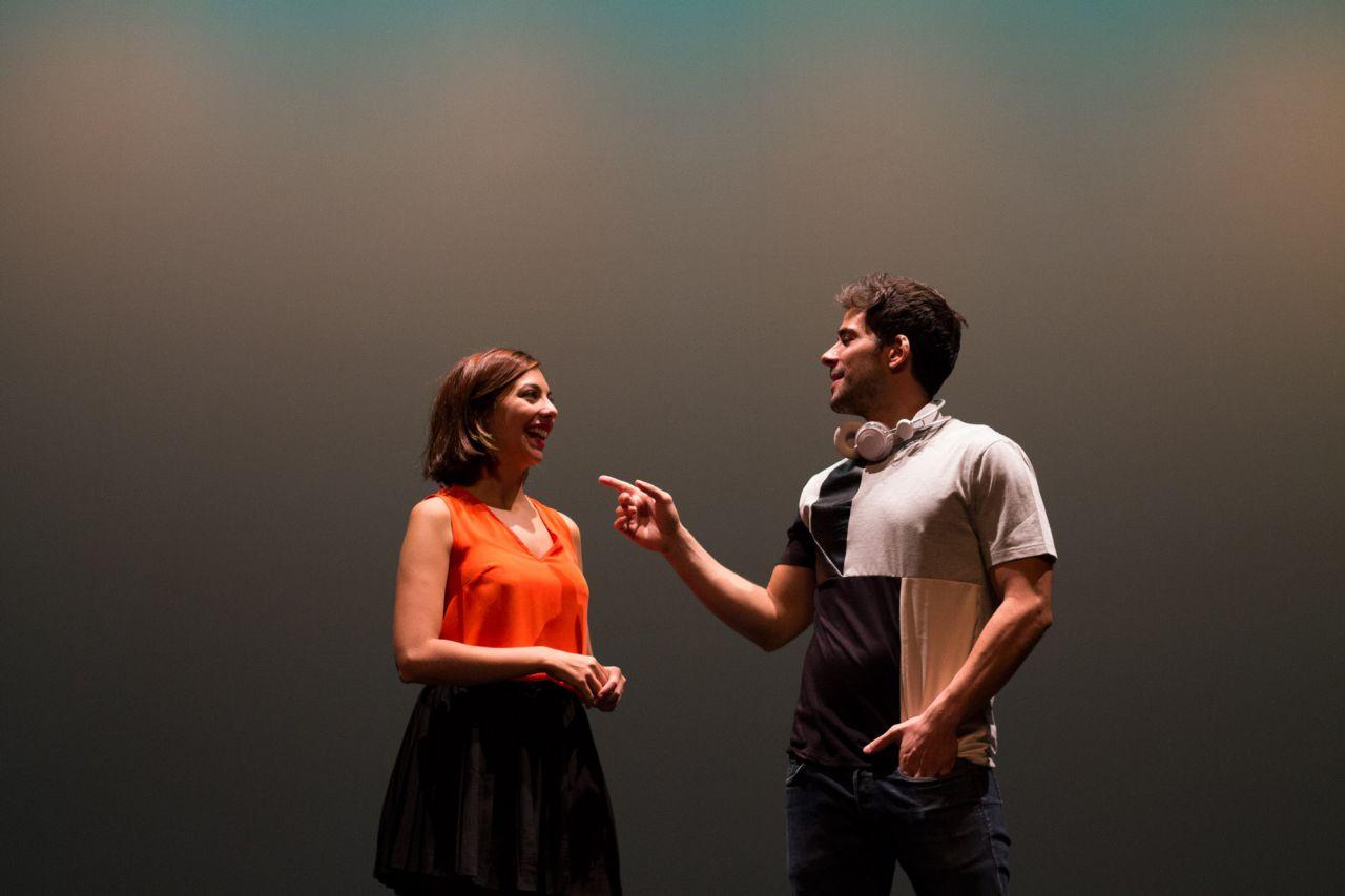 Los actores Rebeca Plaza y Ramón San Román