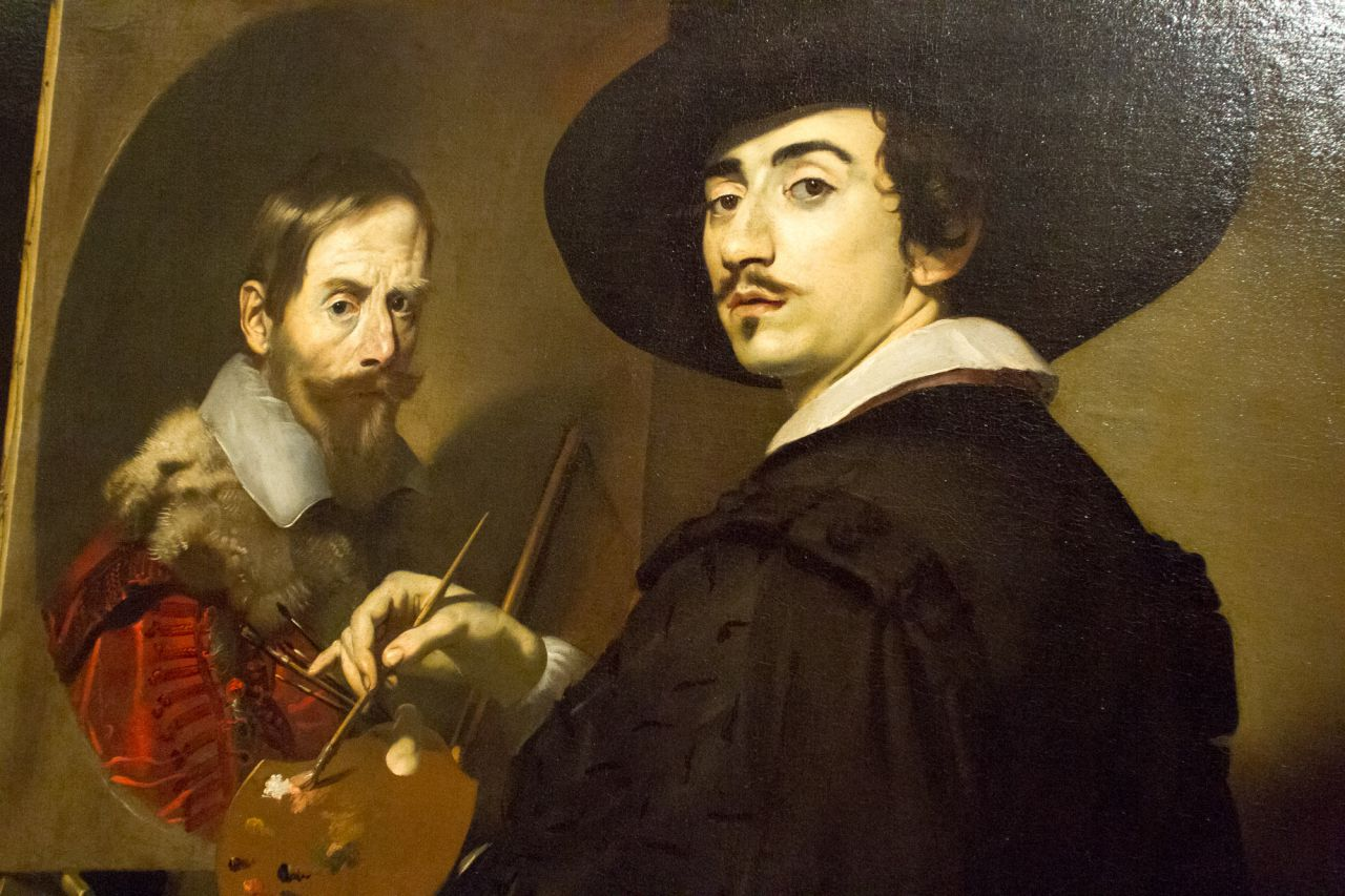 Autorretrato ante el caballete o Retrato doble de Nicolas Regnier y Vincenzo Giustiniani.