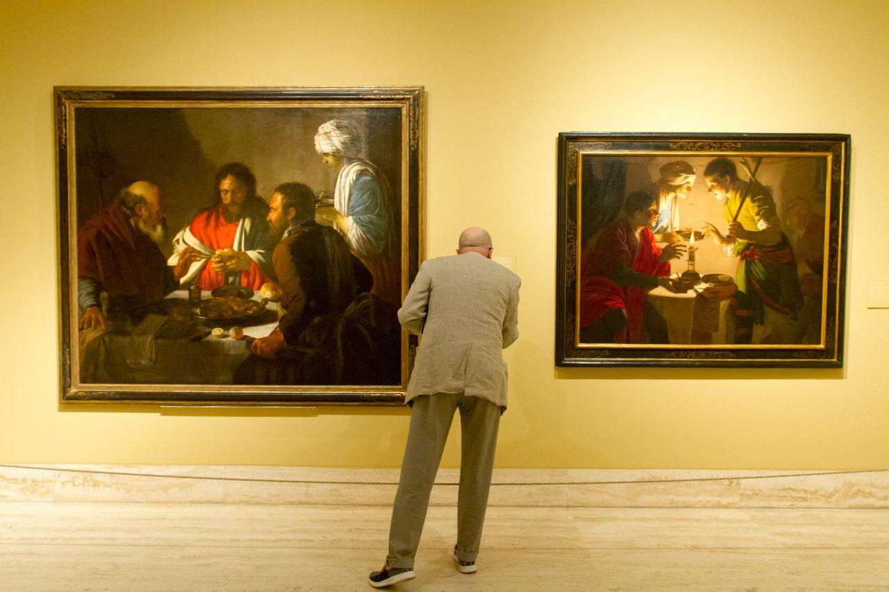 La cena de Emaús y Esaú vendiendo su primogenitura de Hendrick ter Brugghen.