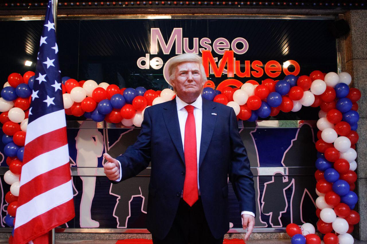 Trump llega antes al Museo de Cera que a la Casa Blanca.
