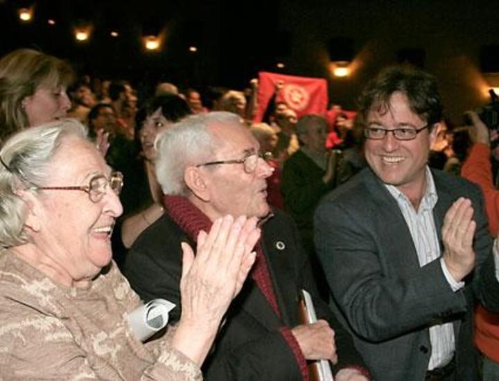 CC.OO. realizó esta tarde un homenaje a su fundador Marcelino Camacho en una fiesta organizada en el Auditorio de la sede del sindicato.
