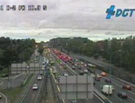 Un accidente en Torrejón colapsa el tráfico