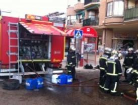 Desalojados 200 vecinos de Pinto por un incendio en un garaje