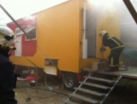 Se incendia una caravana del circo de Teresa Rabal sin producir heridos
