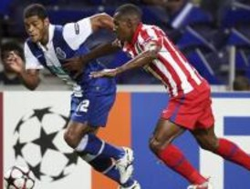 2-0. El Atlético entrega el partido en el tramo final en Oporto