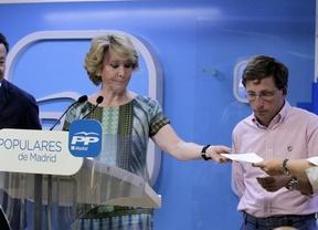 Esperanza Aguirre, durante la rueda de prensa.