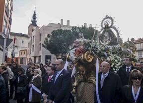Procesión de la Virgen de nuestra Señora de los Ángeles en Getafe.