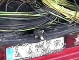 La Policía detiene 'in fraganti' a cinco personas dedicadas al robo de cobre