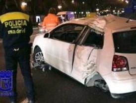 Espectacular accidente en la Castellana