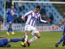 Casquero desatasca al Getafe ante el Valladolid