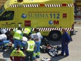 Un motorista, herido muy grave en Griñón