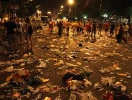 La celebración del Mundial deja 95 toneladas de basura