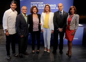 Los participantes en la ponencia sobre la concienciación en el cáncer de cabeza y cuello.