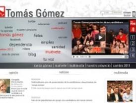 Gómez presenta una web