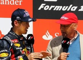 Vettel parece un niño pequeño y asustado