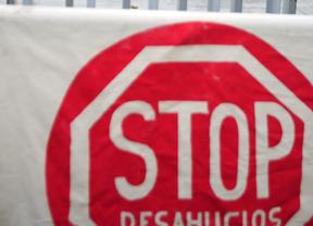 Pancarta de 'Stop desahucios' (archivo)