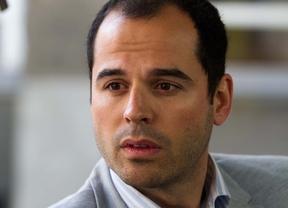 Ignacio Aguado candidato por Ciudadanos a la Comunidad de Madrid durante la entrevista en la Terraza de Gran Vía.