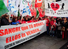Protesta privatización de las donaciones de sangre (13 de diciembre de 2013)