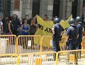 Cincuenta detenidos por okupar con pancartas el Casino de Madrid
