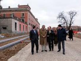 El alcalde de Boadilla visita las obras del Palacio Infante D. Luis