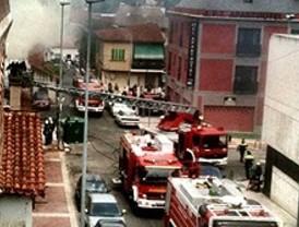 Incendio junto a la estación de Collado Villalba