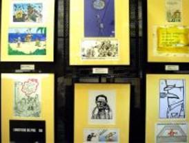 Exposición de humor gráfico por la libertad de expresión llega de la mano de Renfe y RSF