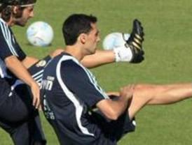 Primer entrenamiento de Arbeloa con el Madrid