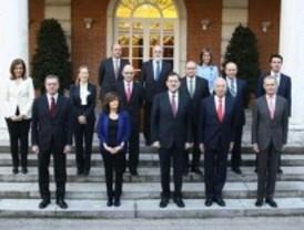 Primer consejo de ministros de Rajoy en La Moncloa