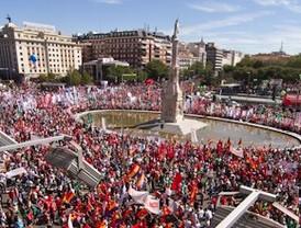 El clamor social por un referéndum abarrota el centro de Madrid