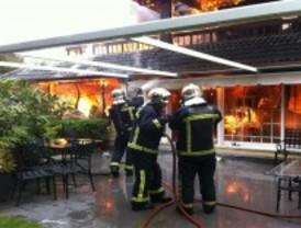 Arde un chalé en Torrelodones