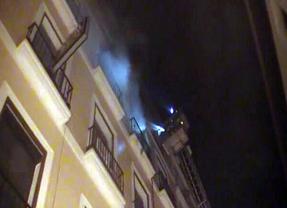 Incendio en la calle Puebla