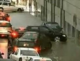 La lluvia inunda Madrid
